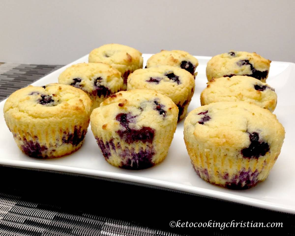 Blueberry Lemon Muffins Keto Low Carb Gluten Free Recipe Yummly Recipe Low Carb Recipes Dessert Keto Muffin Recipe Lemon Blueberry Muffins