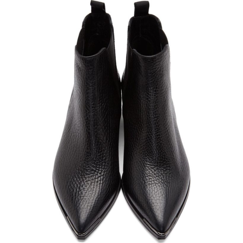 Acne Studios Black Grained Leather Jensen Chelsea Boots