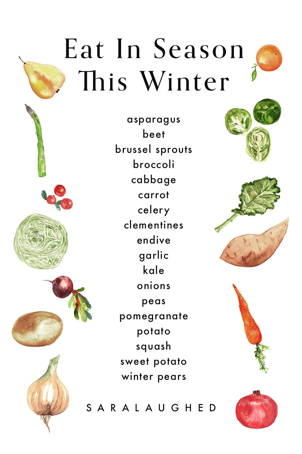 20 Winter Self Care Ideas For You Not Your Instagram Followers Season Fruits And Vegetables Seasonal Meal Planning Seasonal Food