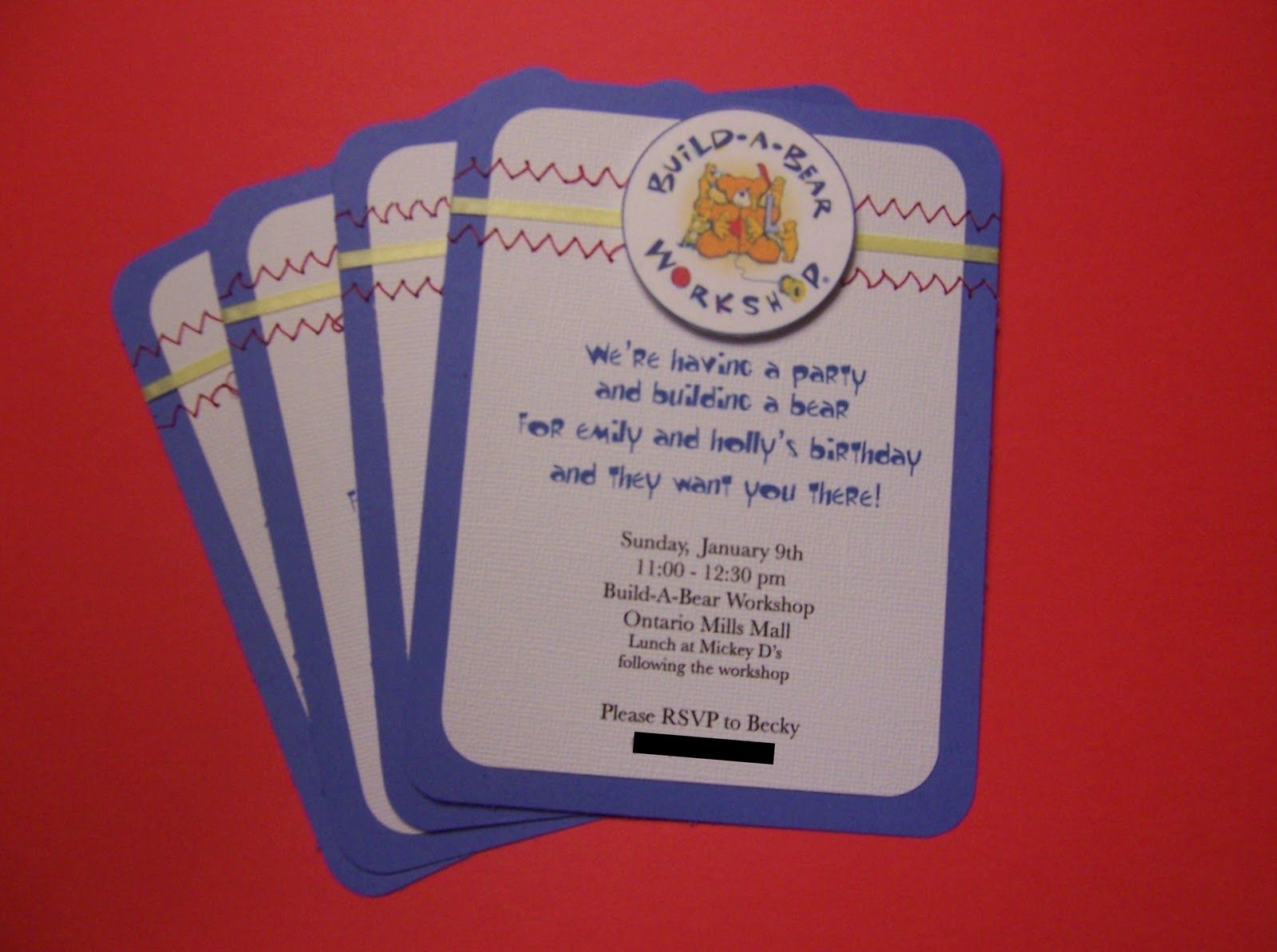 Top 5 reasons to party at BuildABear workshop birthday party or – Build a Bear Invitations Birthday