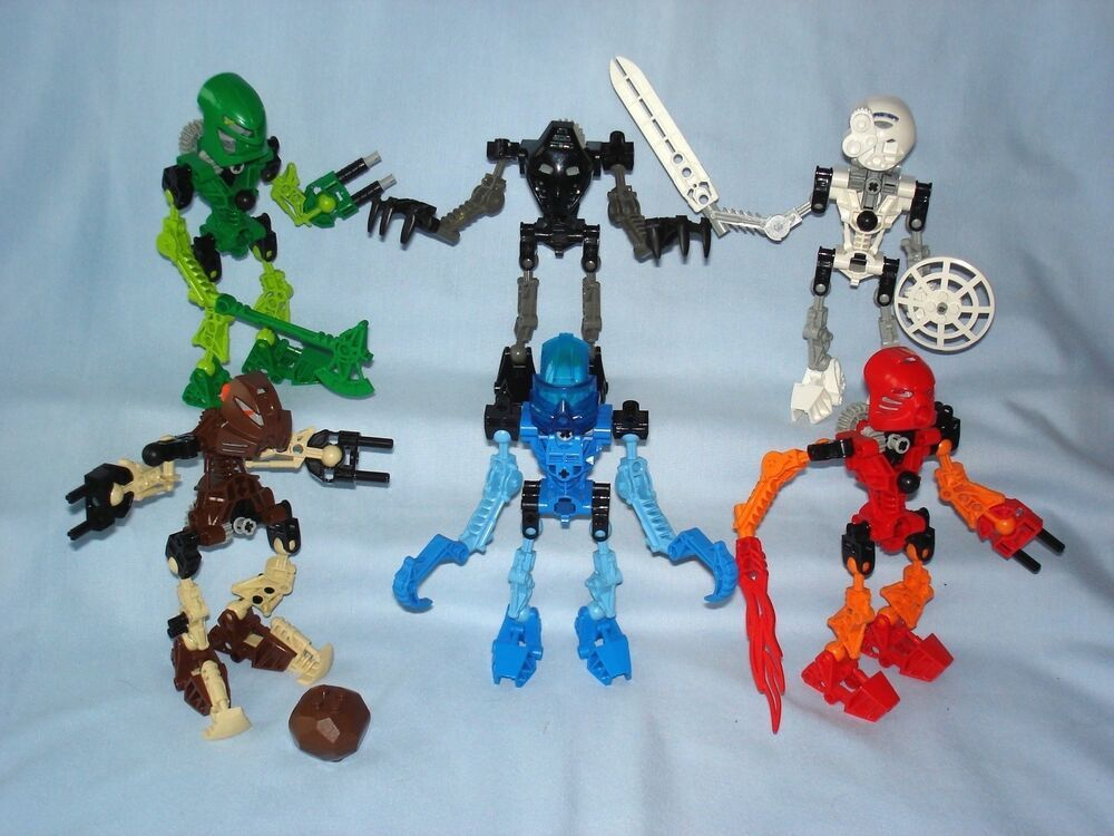 100/% Complete Figure Lego 8536 Bionicle Toa KOPAKA no Instructions