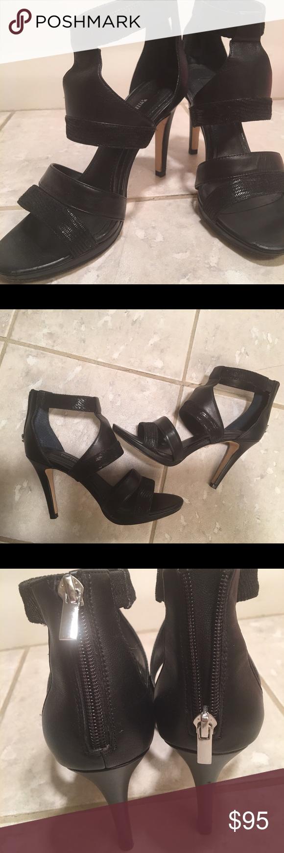 "Leather 4"" heels. Black House White Market Sexy, stylish and barely worn. black house white market Shoes Heels"