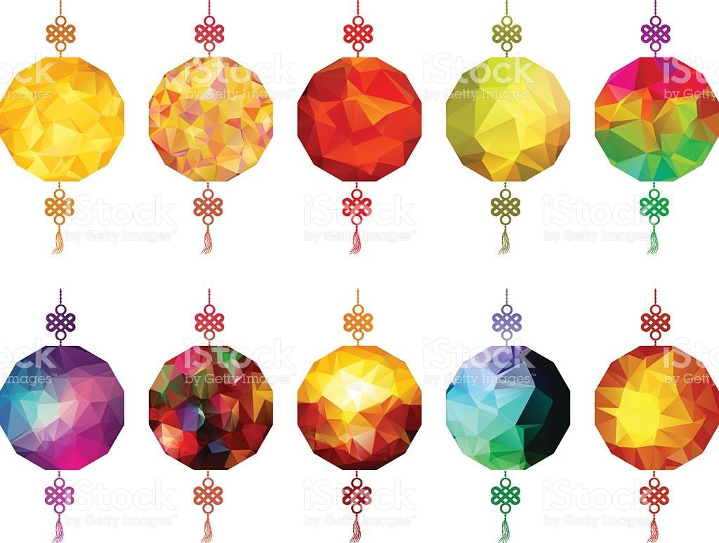 Chinese Polygonal Lantern Collection Chinese New Year And