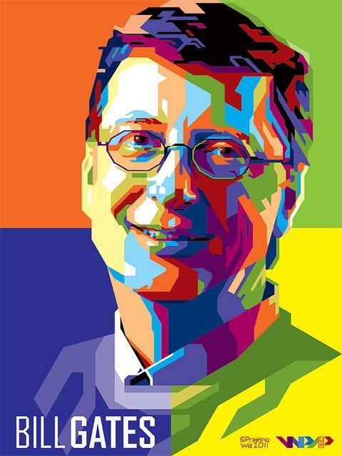 Bill Gates Retrato Artistas Belas Artes