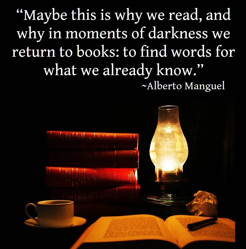 Maybe This Is Why We Read And Why In Moments Of Darkness We