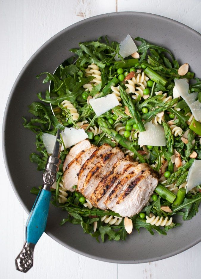 Spring Pasta Salad w- Asparagus, Peas, & Greens-5