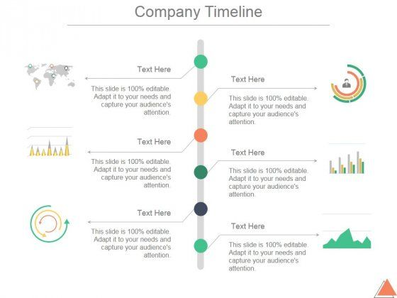 professionally designed visually stunning company timeline ppt