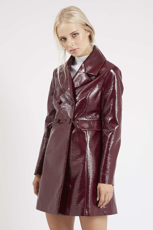 Photo 3 of DoubleBreasted Vinyl Coat Coat, Mod girl