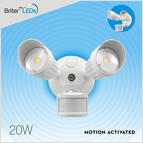 Outdoor Led Motion Lights Interesting Led Motionactivated Flood Light 180Degree Outdoor White Motion Review