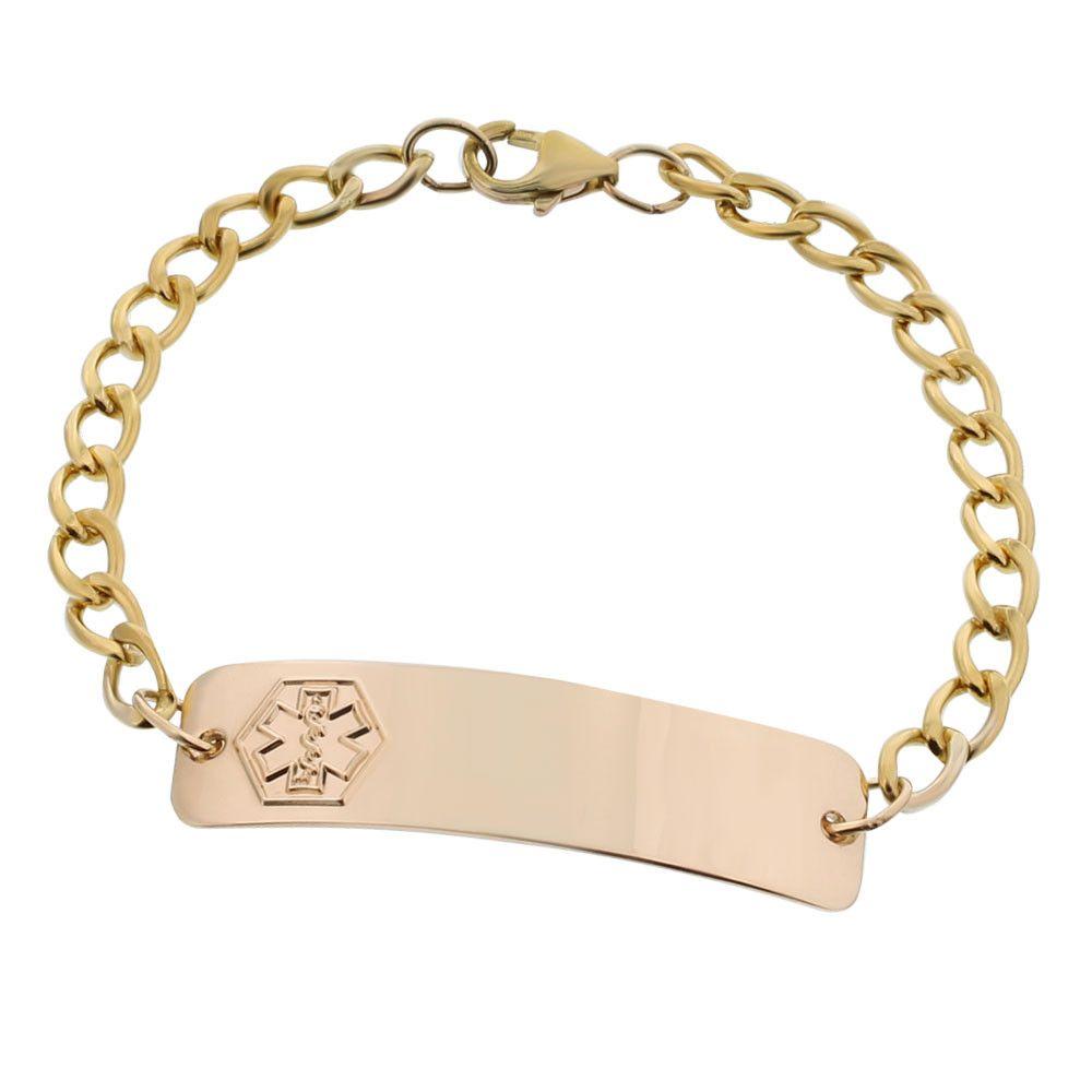 10k Gold Filled Classic Bracelet Classic Bracelets Bracelet Collection Medical Jewelry