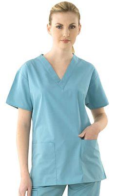 Turquoise Uniforms Vets White Trim Ladies Tunic Dress Nurse Care