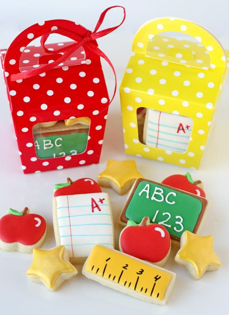 Back To School Cookies Regalos Profesores Galletas Dia