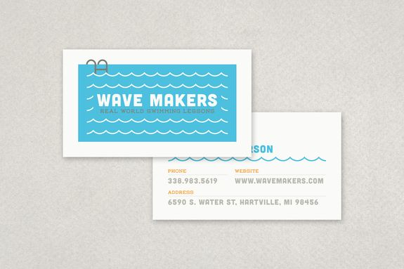 Swimming Pool Business Card Template Inkd Graphic Design Business Card Business Card Template Design Business Cards Creative Templates
