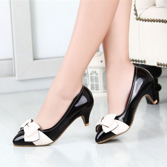 462e4b6d 2015 nuevo vestido de fiesta zapatos mujeres bombean los zapatos  puntiagudos zapatos de tacones bajos para