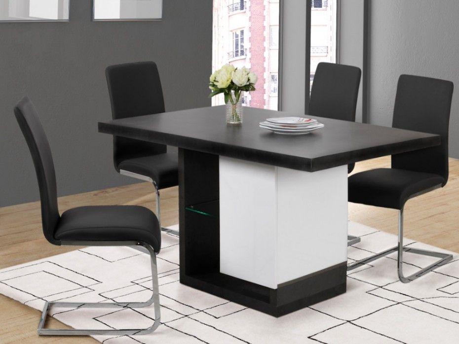 Table à manger EWEN pas cher avec LEDs 6 couverts MDF laqué prix promo Table  à manger Vente Unique 279.99 € ceddb279a532