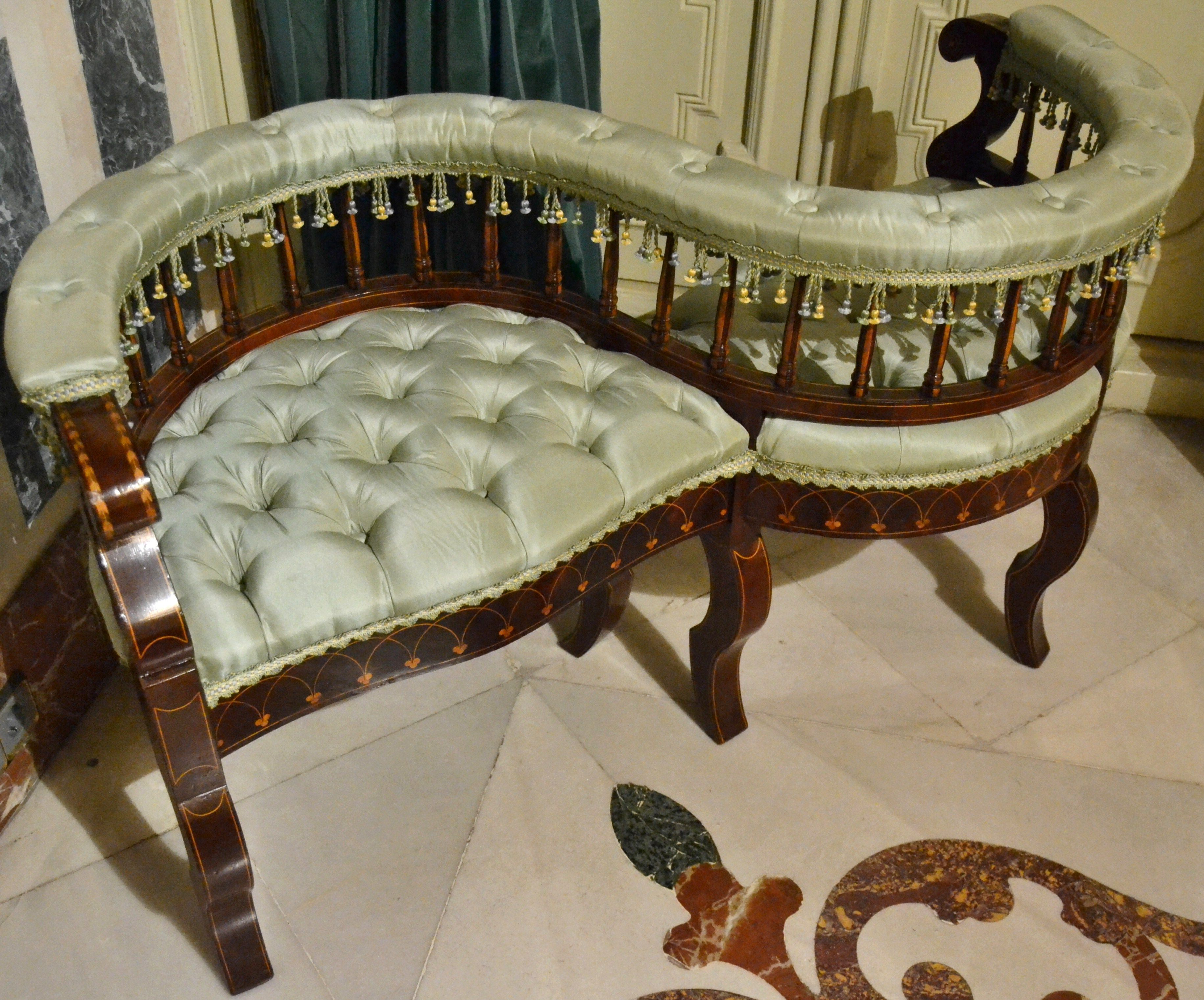 Image Result For Empire Style Interior Love Seat Wall Seating Victorian Chair