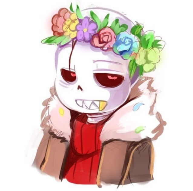 Underfell Flowercrown   Undertale   Underfell sans, Sans