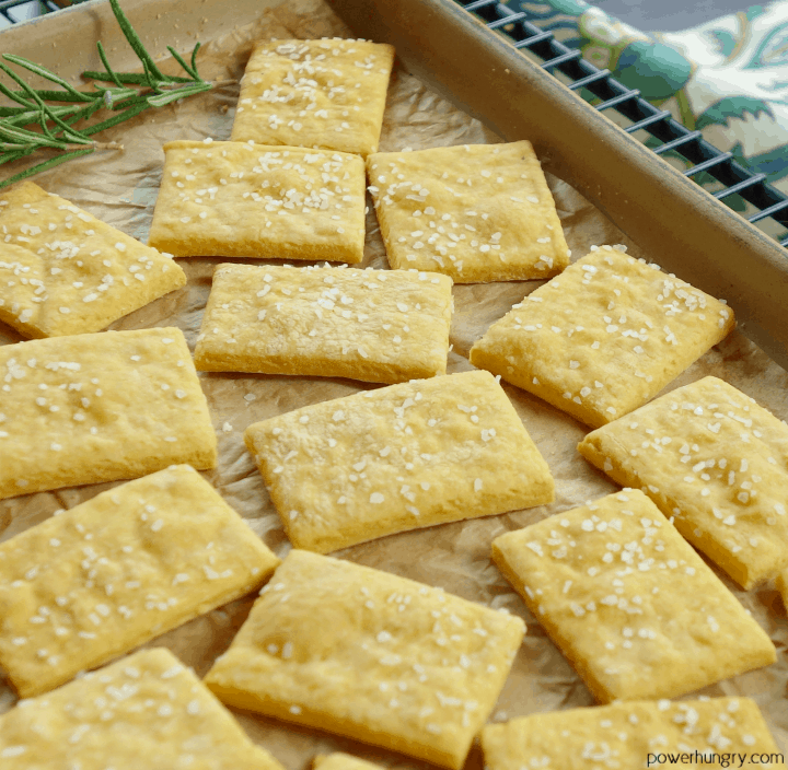 Cheese Chickpea Flour Crackers {grainfree, vegan, high-protein} | power hungry