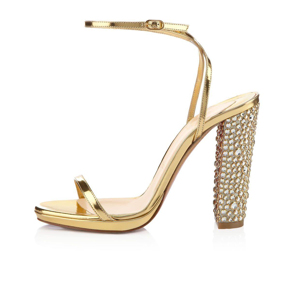 Luxury Gold Chunky Wedding Shoes  weddingshoes  1031ec125cc5