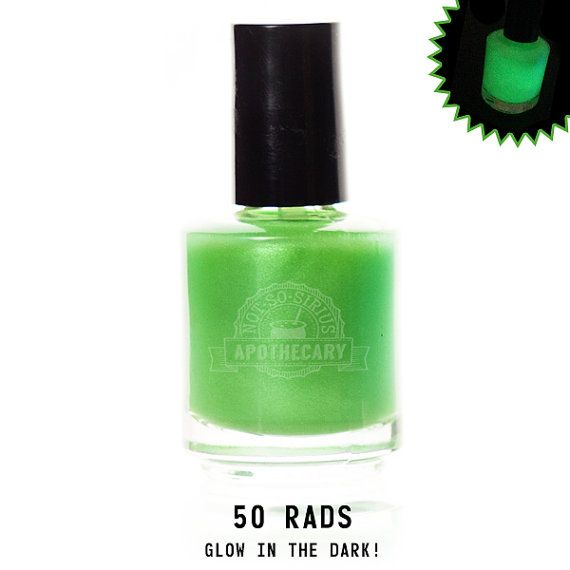 50 Rads -  Glow in the Dark Full Size Nail Lacquer - Fallout Inspired Nail Polish