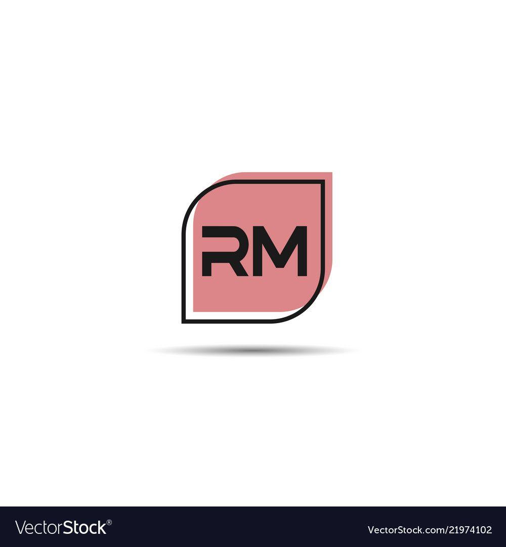 initial letter rm logo template design vector image on vectorstock logo templates template design lettering pinterest