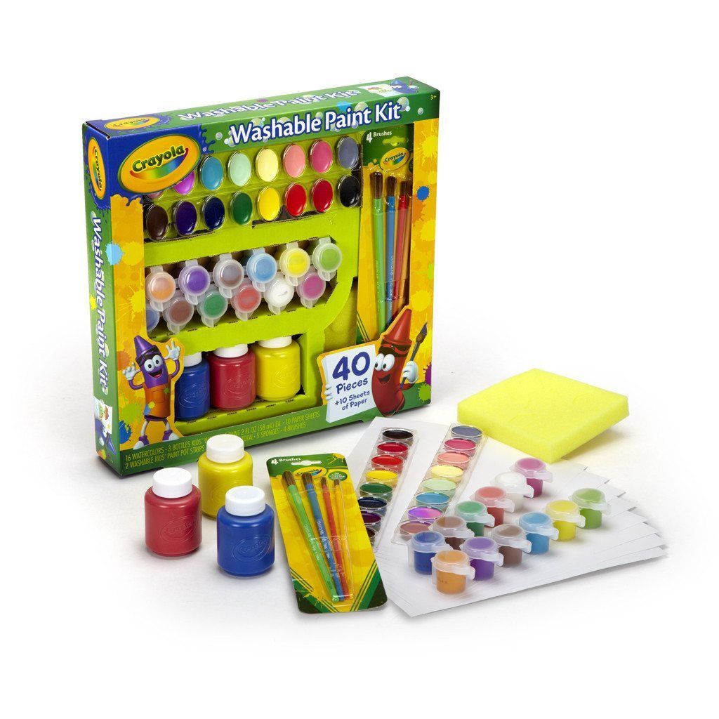 Crayola Washable Paint Kit 54 0155 Washable Paint Painting
