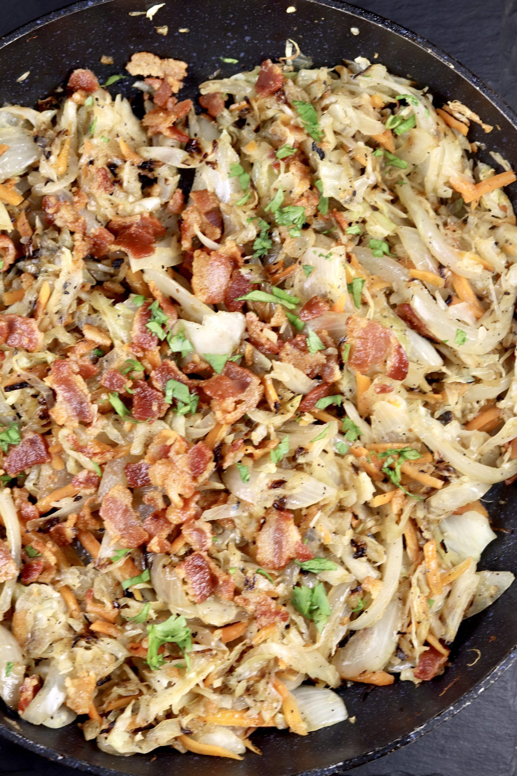 Fried Cabbage {with Bacon & Onion} - Miss in the Kitchen