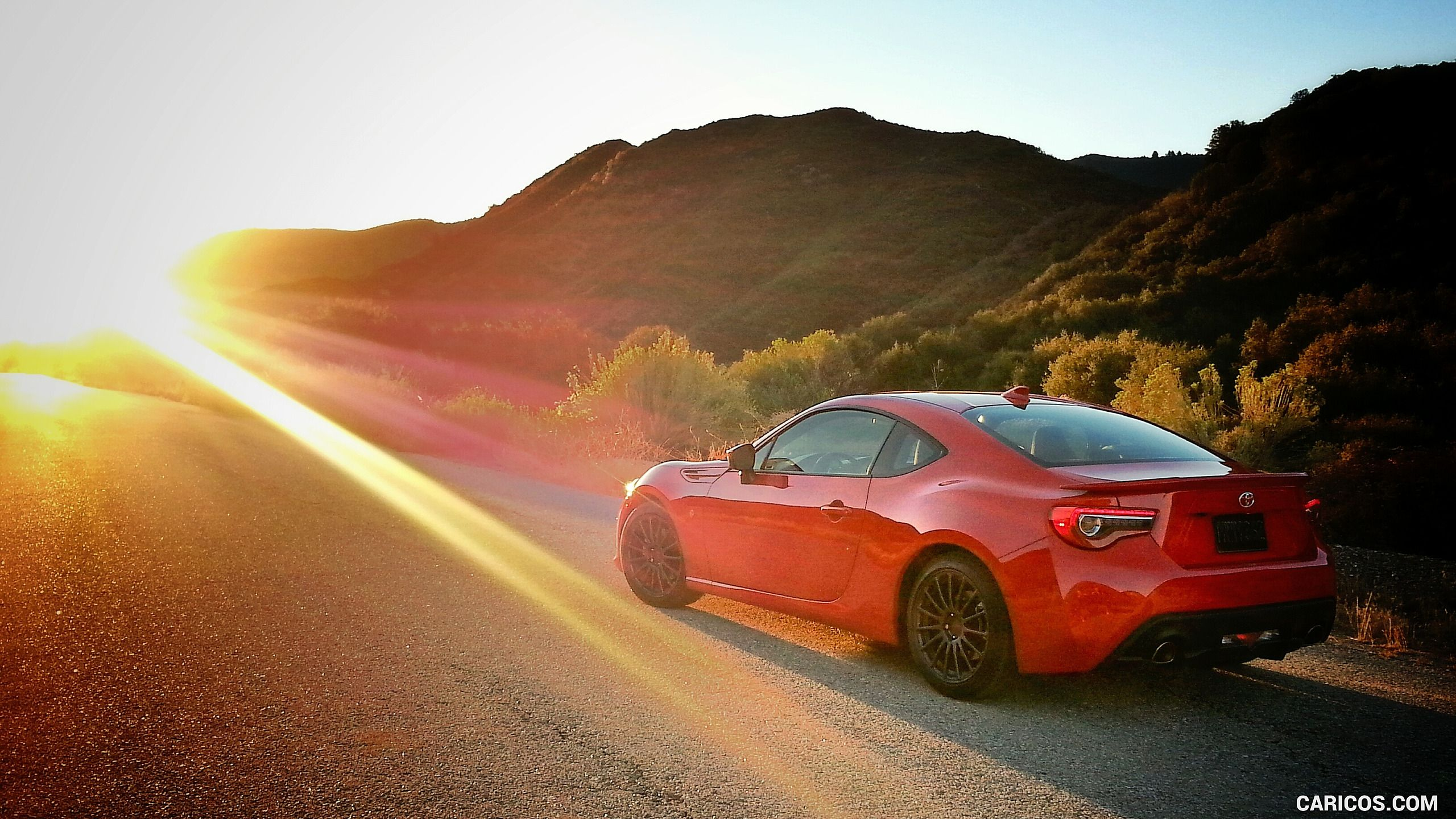 2017 Toyota 86 Red with TRD Accessories Rear Three Quarter HD