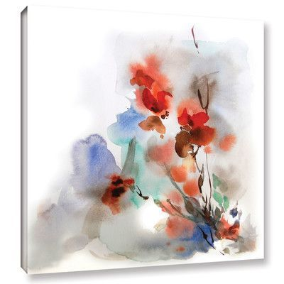 House Of Hampton Fall Flowers Painting Print On Wrapped Canvas