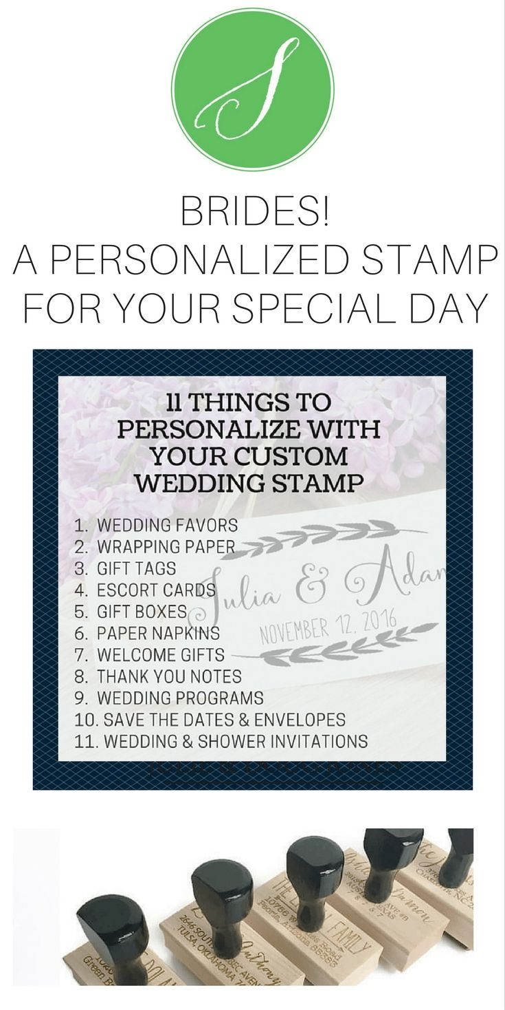 A custom wedding stamp is the perfect way to personalize your ...