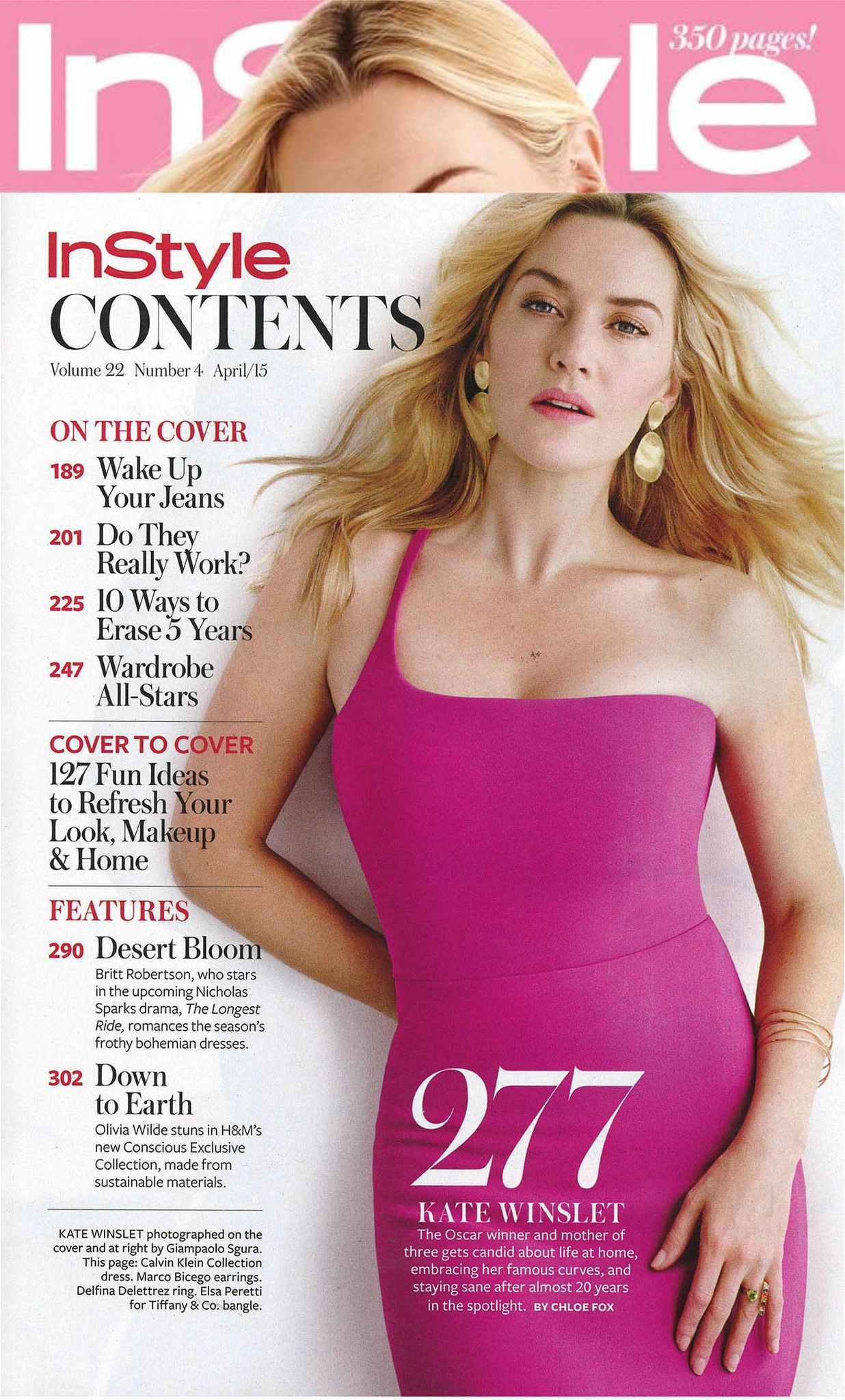 Kate Winslet wearing our Marco Bicego Lunaria Large Double Drop ...