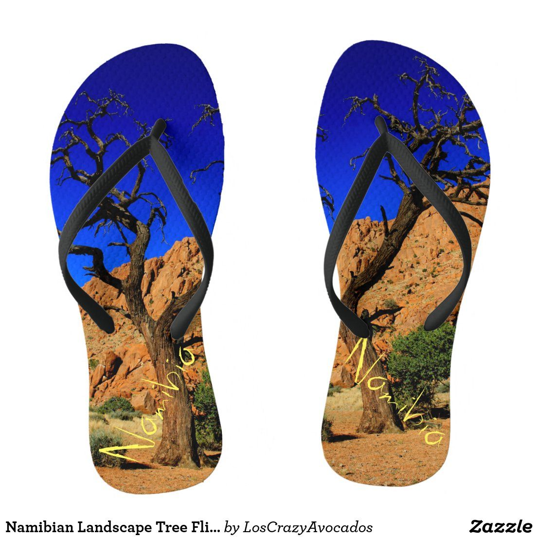 Namibian Landscape Tree Flip Flops | Zazzle.com