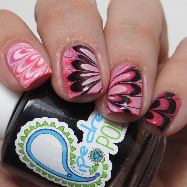 Here\'s a mani I did using all @pipedreampolish. The base is \'spiked ...