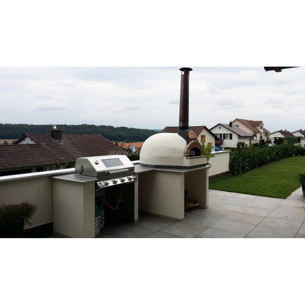 Einfache Aussenkuche Mit Valoriani Pizzaofen Und Beefeater Grill Simple Outdoor Kitchen With Valoriani Pizza Ove Built In Grill Jacuzzi Outdoor Outdoor Grill
