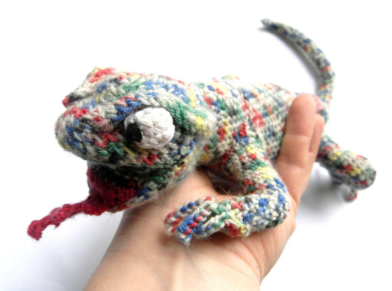 Crochet Lizard /Handmade Reptile OOAK /Amigurumi | Crochet ...
