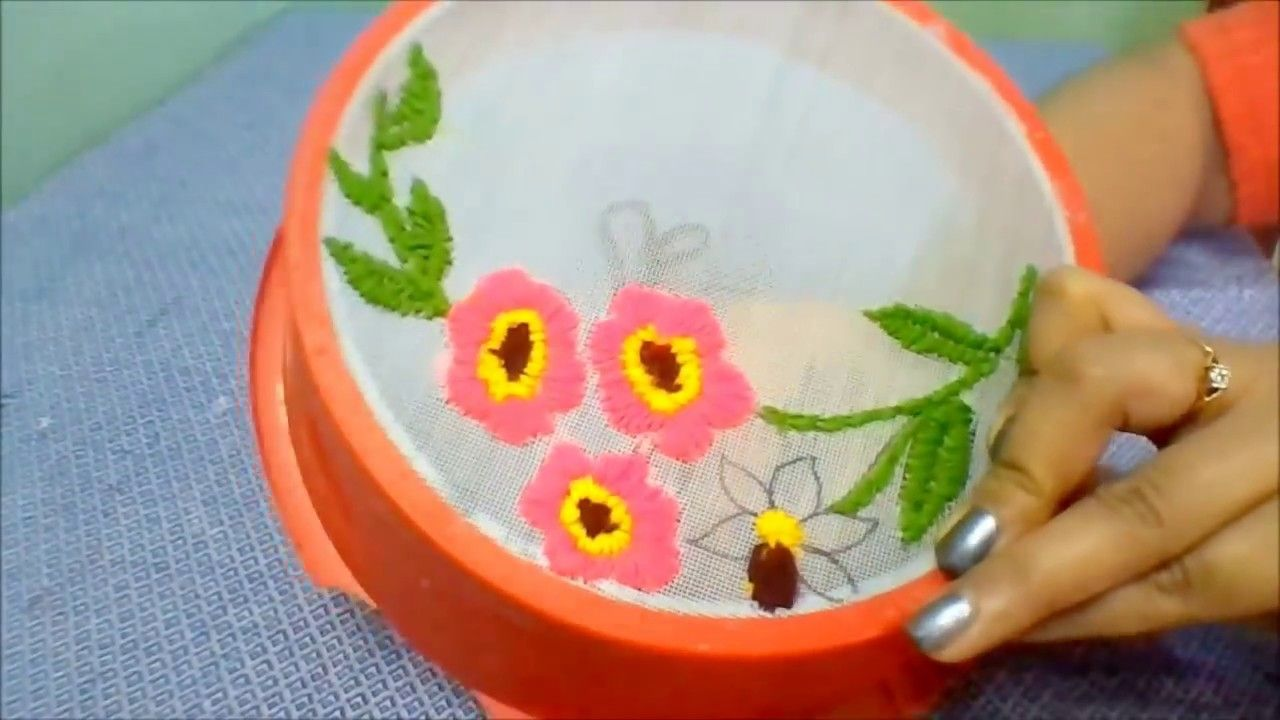 Best Use Of Waste Strainer Idea Best Out Of Waste Waste Material
