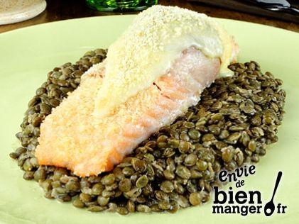 Pavé de saumon aux lentilles