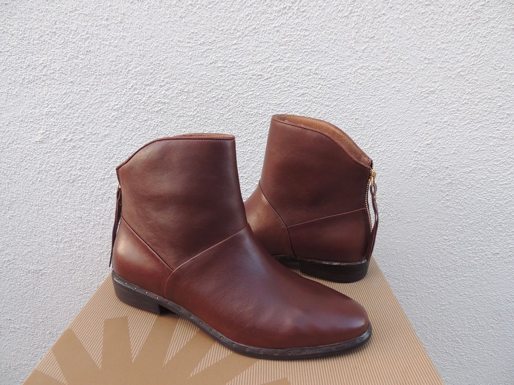 45eaddceb54 Ugg bruno mid brown leather chelsea ankle boots, women us 9.5/ eur ...