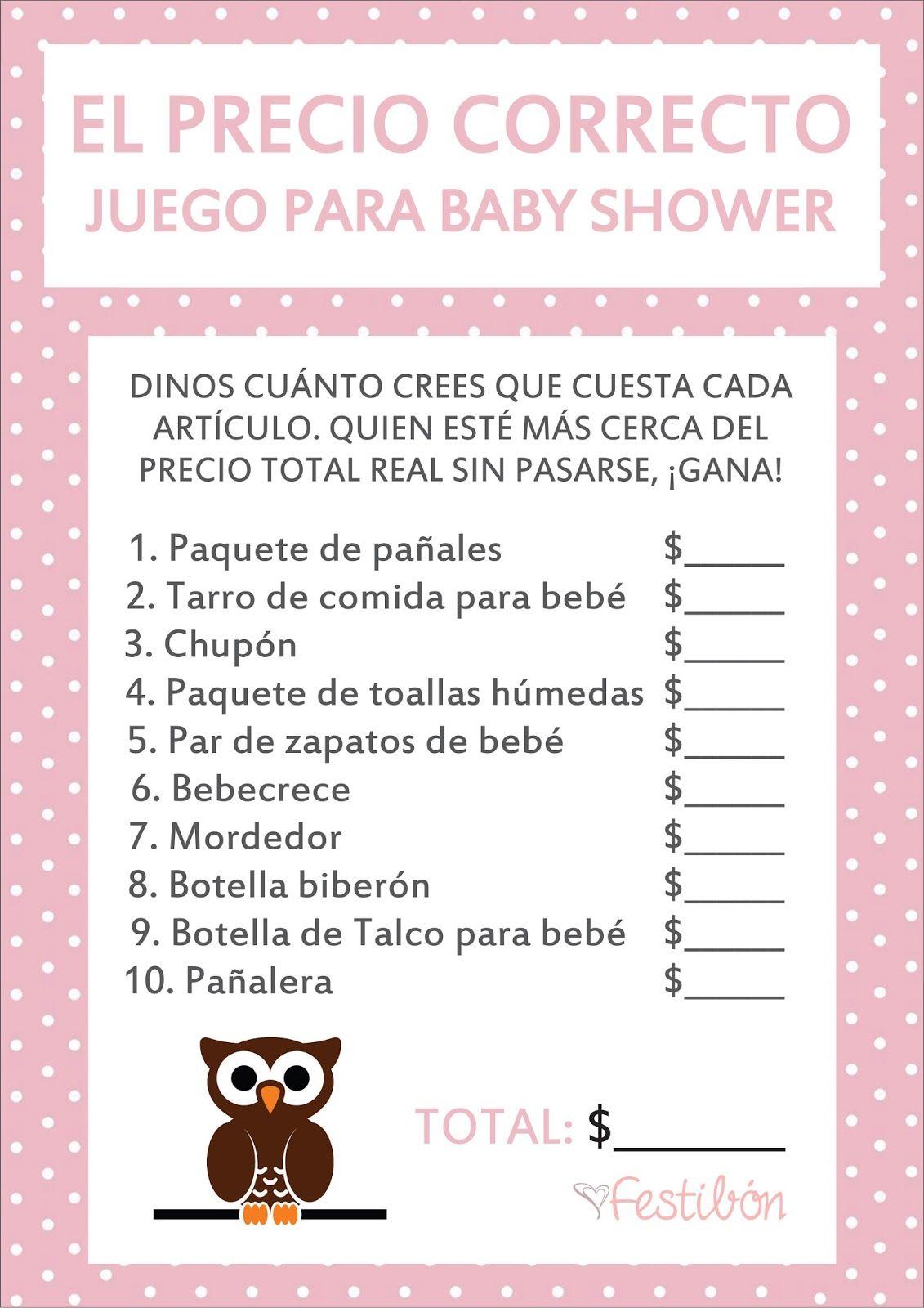 Pin De Monse Hernandez En Baby Shower Juegos Para Baby Shower