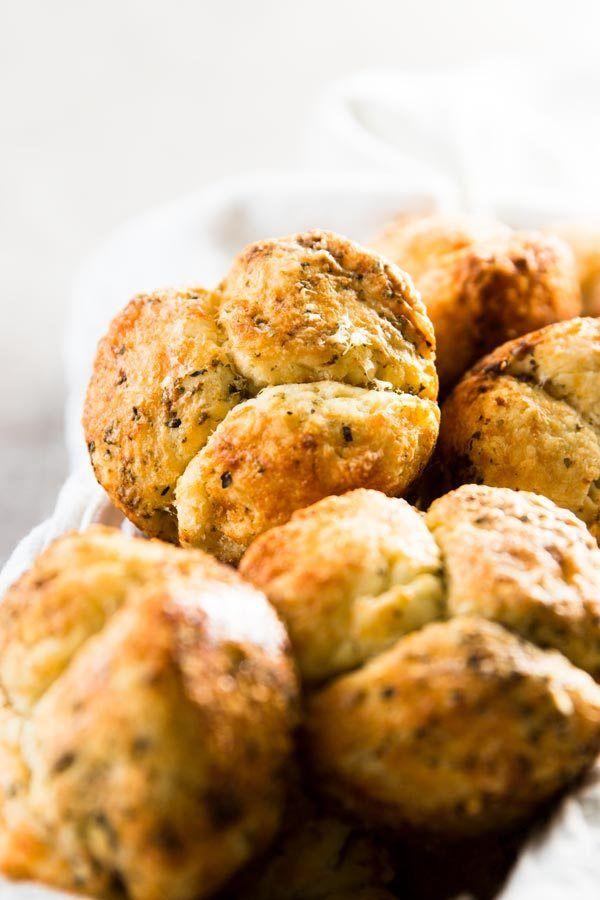 This Homemade Mini Garlic Parmesan Monkey Bread recipe is ...