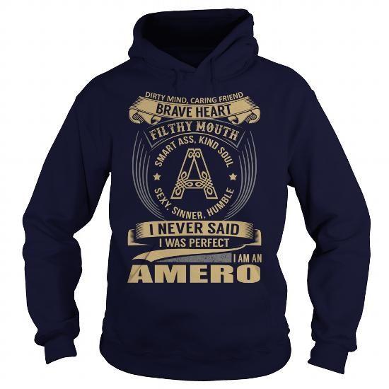 Cool AMERO Last Name, Surname Tshirt T-Shirts