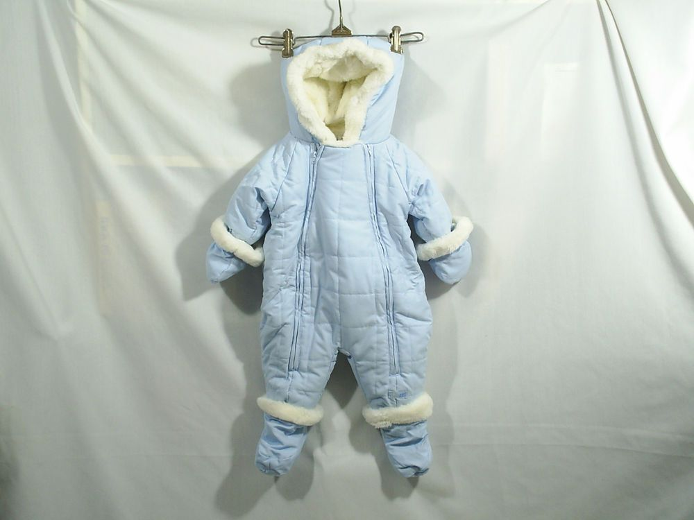 7bcfbdb33 Details about NEW infant Boy's SNOZU Blue & Green Fleece lined SNOW ...