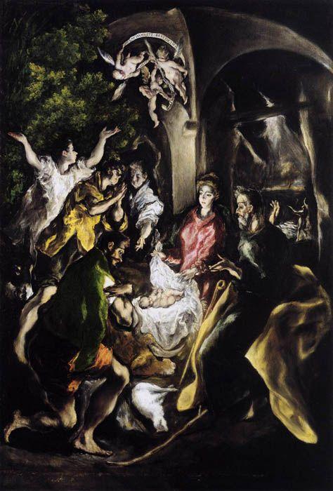 El Greco : i suoi dipinti che racconta la Bibbia - ArtBible.org he Adoration of the Shepherds (1610) El Greco  [Metropolitan Museum of Art, New York]