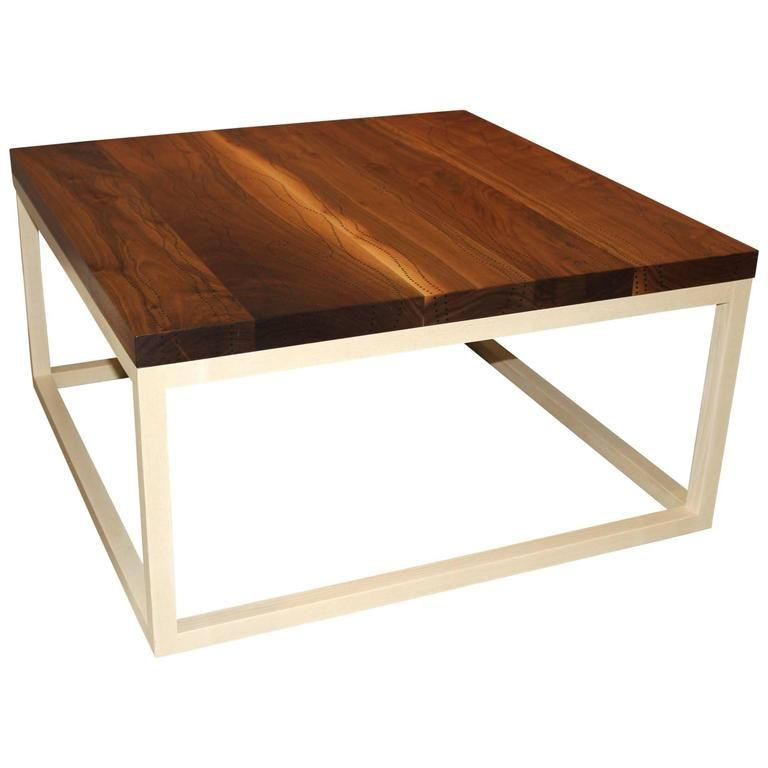 Peter Sandback Modernist Low Square Table In Bleached Walnut And