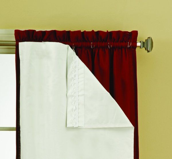 Eclipse 54 Inch By 60 Inch Thermaliner Blackout Panel Pair White