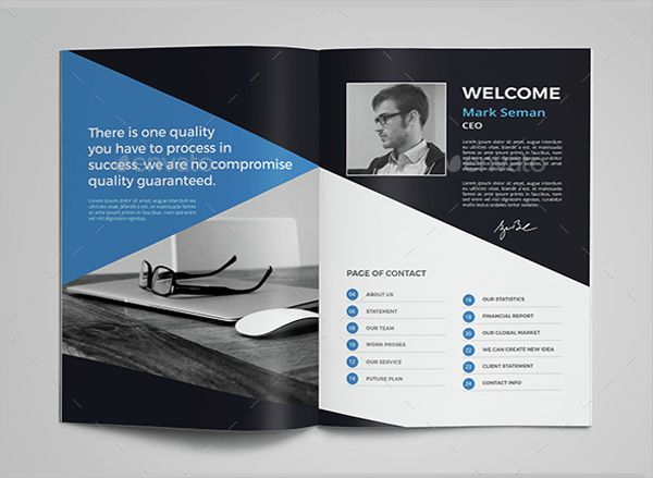 Corporate Advertising Brochure Template 12 Design Page Website