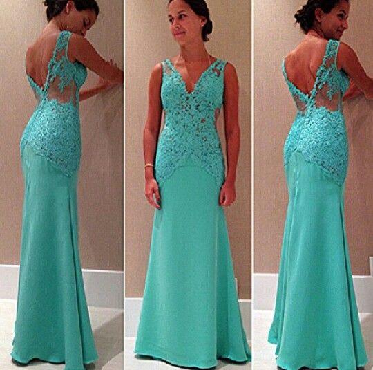 Top Vestido de formatura e madrinha azul turquesa | vestido de  FV67