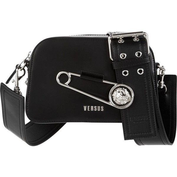 60f4ac6e Versus Versace Safety Pin Detail Cross-Body Bag ($490) ❤ liked on ...