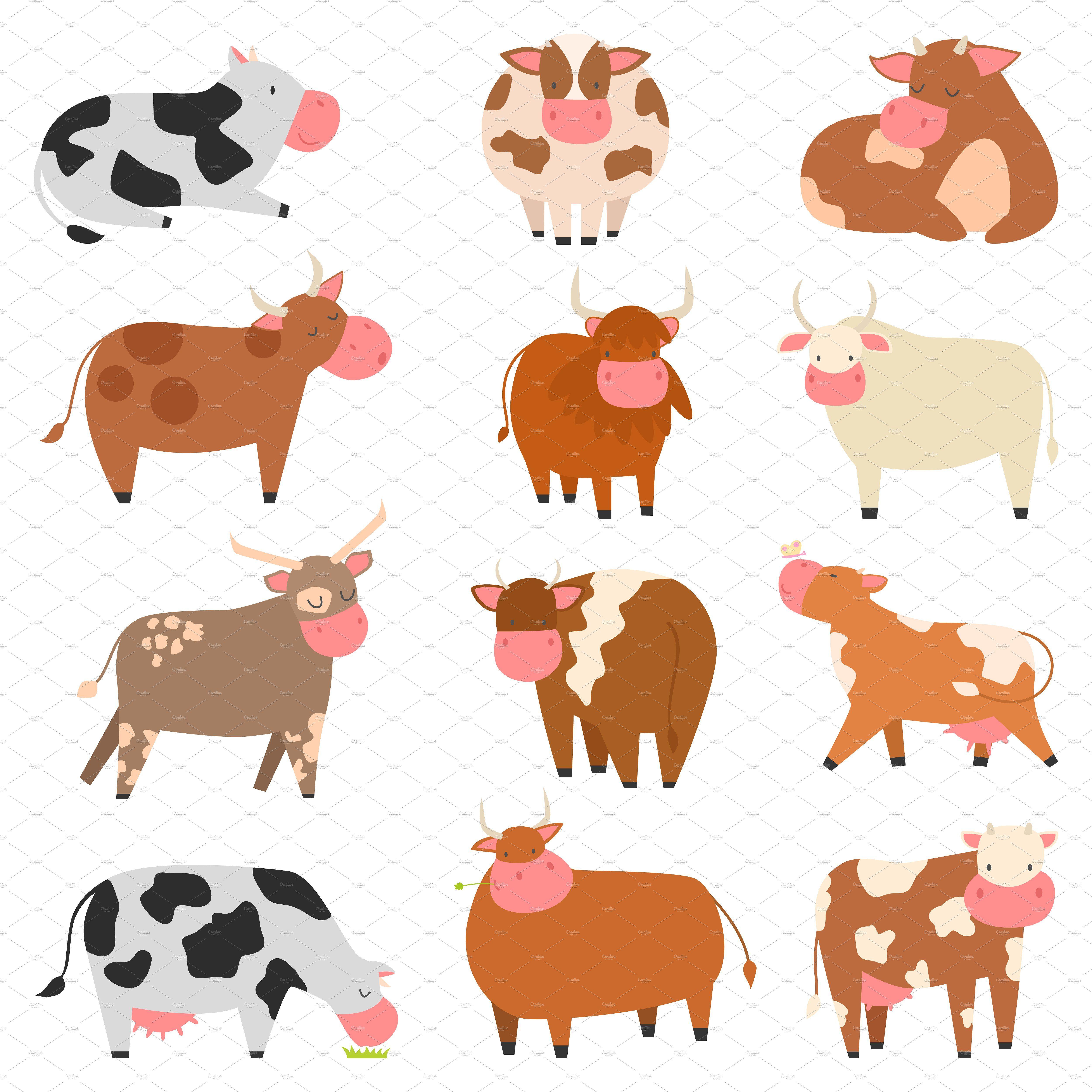 Milk cow bull vector Milk cow, Cow, Cow colour