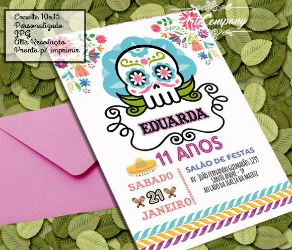Convite Digital FESTA MEXICANA CAVEIRA  b4f6c414d6c